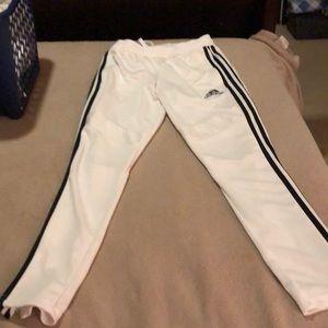 Adidas white athletic pants